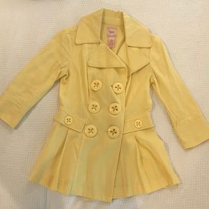 Candies double breasted 3/4 length sleeve coat
